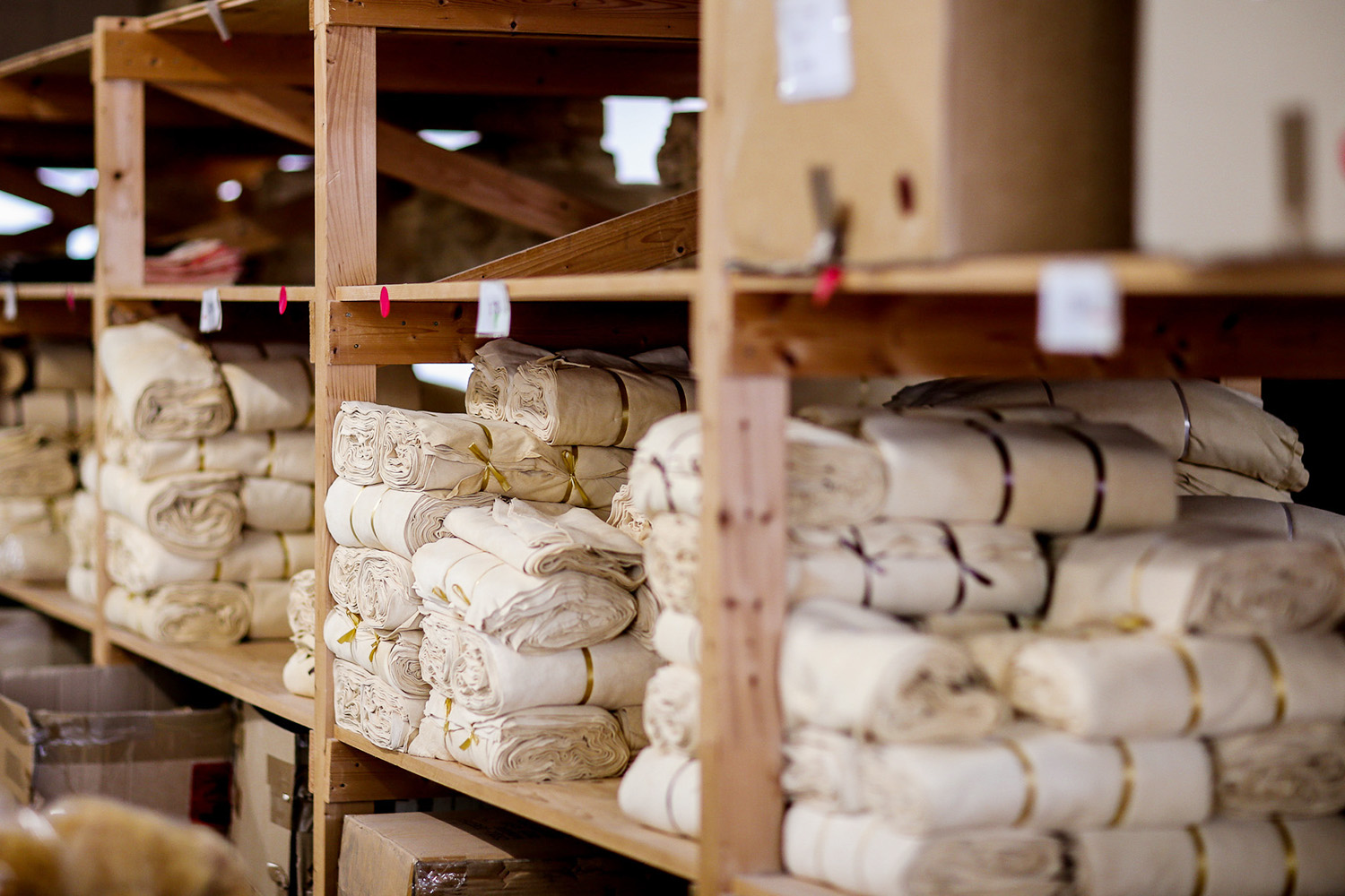 Croll & Denecke stores its products on long shelves where they wait to be sent all over the globe.