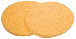 Cellulose cosmetic sponge, pack of 2 oval 11x8cm