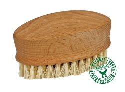 Massage brush with coconut bristles