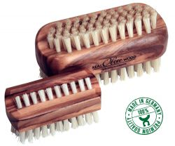 Nailbrush olive wood, large