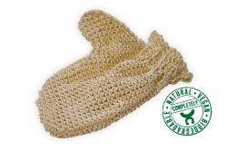 Sisal glove, fine knitted