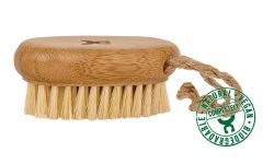 Small bamboo massage brush with coconut bristles