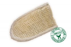 Massage glove, sisal/cotton
