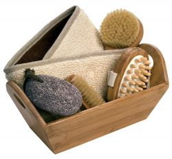 Gift set in Bamboo box