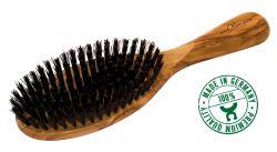 Brosse à cheveux en olivier, grande