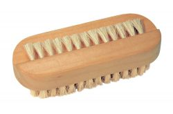 Wooden nailbrush with natural bristles
