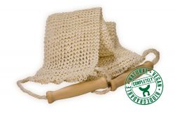 Sisal back strap, fine knitted
