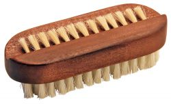 Nail brush dark wood