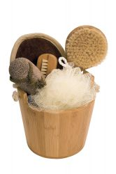 Gift set in bamboo pail