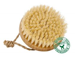 Bamboo massage brush with coconut bristles