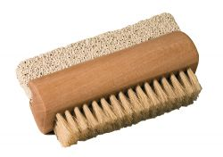 Nailbrush with pumice