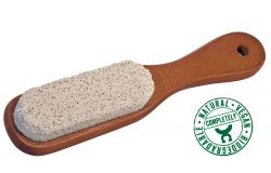 Handle brush with pumice