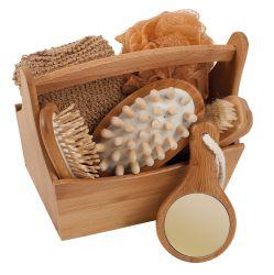 Set cadeau de bois bamboo