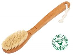 Bathbrush, bamboo wood, vegan bristles