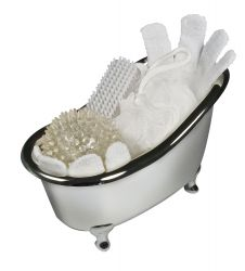Set cadeau en baignoire chromée