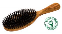Hairbrush olive wood, large