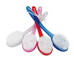 Bathbrush, synthetic, different colours