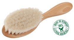 Baby hairbrush, with goat hair/FSC beechwood